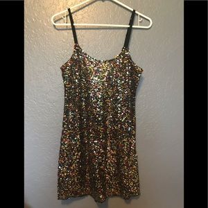 Free People Festive Sequin Tank Top Sparkly
